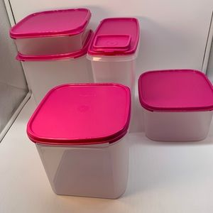 Tupperware Modular Mates Conteiners Set 5 Pieces.